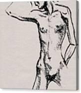 Nude Model Gesture Xxi Canvas Print