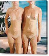 Nude Twins Canvas Print