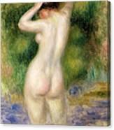 Nude Wading, Circa 1880 Canvas Print