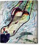 Woman Sleeper Nude Canvas Print