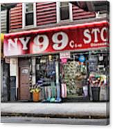 Ny 99 Cent Store Brooklyn  Canvas Print