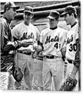 N.y. Mets Manager Gil Hodges Sports A Canvas Print