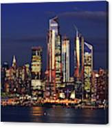 Nyc Sundown Gold And Twilight Skies Canvas Print