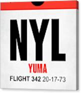 Nyl Yuma Luggage Tag I Canvas Print