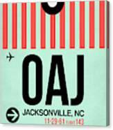 Oaj Jacksonville Luggage Tag I Canvas Print