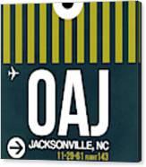 Oaj Oaj Jacksonville Luggage Tag I Luggage Tag I Canvas Print