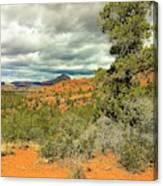 Oak Creek Baldwin Trail Blue Sky Clouds Red Rocks Scrub Vegetation Tree 0249 Canvas Print