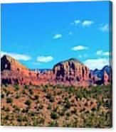 Oak Creek Jack's Canyon Blue Sky Clouds Red Rock 0228 3 Canvas Print
