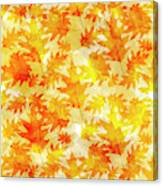 Oak Leaf Pattern Canvas Print