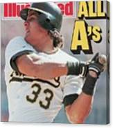 Oakland Athletics Jose Canseco, 1988 Al Championship Series Sports Illustrated Cover Canvas Print