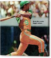 Oakland Athletics Reggie Jackson... Sports Illustrated Cover Canvas Print