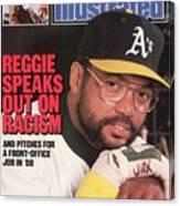 Oakland Athletics Reggie Jackson Sports Illustrated Cover Canvas Print