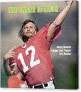 Oakland Raiders Qb Kenny Stabler... Sports Illustrated Cover Canvas Print