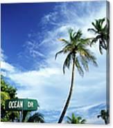 Ocean Drive, South Beach, Miami Canvas Print
