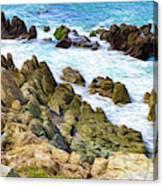 Ocean Rocks in Puerto Vallarta Mexico Canvas Print