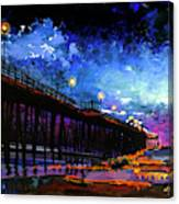 Oceanside At Night Canvas Print