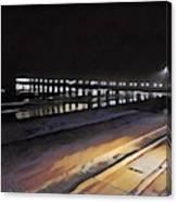 Oceanside Pier At Night  Canvas Print