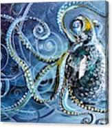 Octopus Of Nine Brains Canvas Print