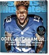 Odell Beckham Jr. Welcome To The Wrevolution, 2015 Nfl Sports Illustrated Cover Canvas Print