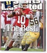 Ohio State Qb Troy Smith... Sports Illustrated Cover Canvas Print