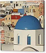 Oia Architecture Canvas Print
