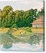 okayama kourakuen - Top Quality Image Edition Canvas Print