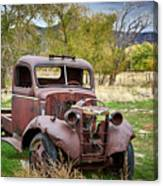 Old Abandoned Chevy Truck Canvas Print