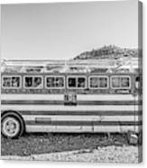 Old Abandoned Vintage Bus Jerome Arizona Canvas Print