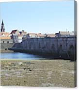old bridge across river Tweed at Berwick-upon-tweed Canvas Print