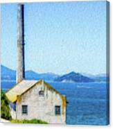 Old Building At Alcatraz Island Prison Canvas Print