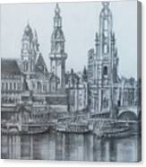 Old City Of Dresden- Dresden Canvas Print
