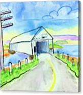 Old Covered Bridge - Avonport N.s. Canvas Print