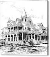 Old Daly Mansion Hamilton Montana Canvas Print