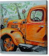 Old Dodge Truck At Patterson Farms Canvas Print