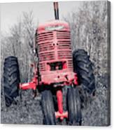 Old Farmall Farm Tractor Color Separation Nh Canvas Print