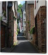 old historic street in Ediger Germany Canvas Print