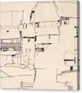 Old Houses In Krumau        Canvas Print
