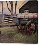 Old Milk Wagon Canvas Print