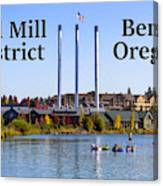 Old Mill District Bend Oregon Canvas Print