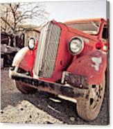 Old Red Truck Jerome Arizona Canvas Print