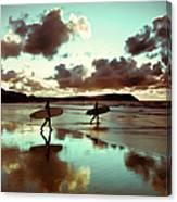 Old Skool Surf Canvas Print