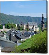 old town walls and church and buildings of Cochem Canvas Print