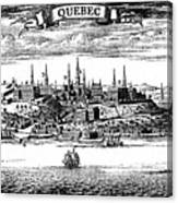 Old View Of Quebec, 1730 C1880 Canvas Print