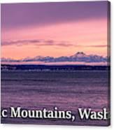 Olympic Mountains, Washington Canvas Print