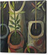 On Polia's Table Canvas Print