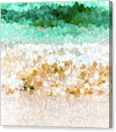 On The Beach Abstract Painting Canvas Print