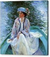 On The River Edge 1910 Canvas Print