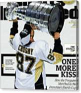 One More Kiss How The Penguins Marched To The Franchises Sports Illustrated Cover Canvas Print