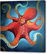 Optical Octopus Canvas Print