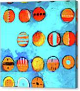 Orange Dots Canvas Print
